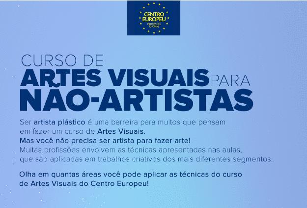 Infográfico | Curso de Artes Visuais para Não-Artistas